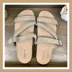 Torrid Beige Sandals With Belt | Size 11.5W